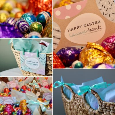 lawyerbank plays Easter Bunny!