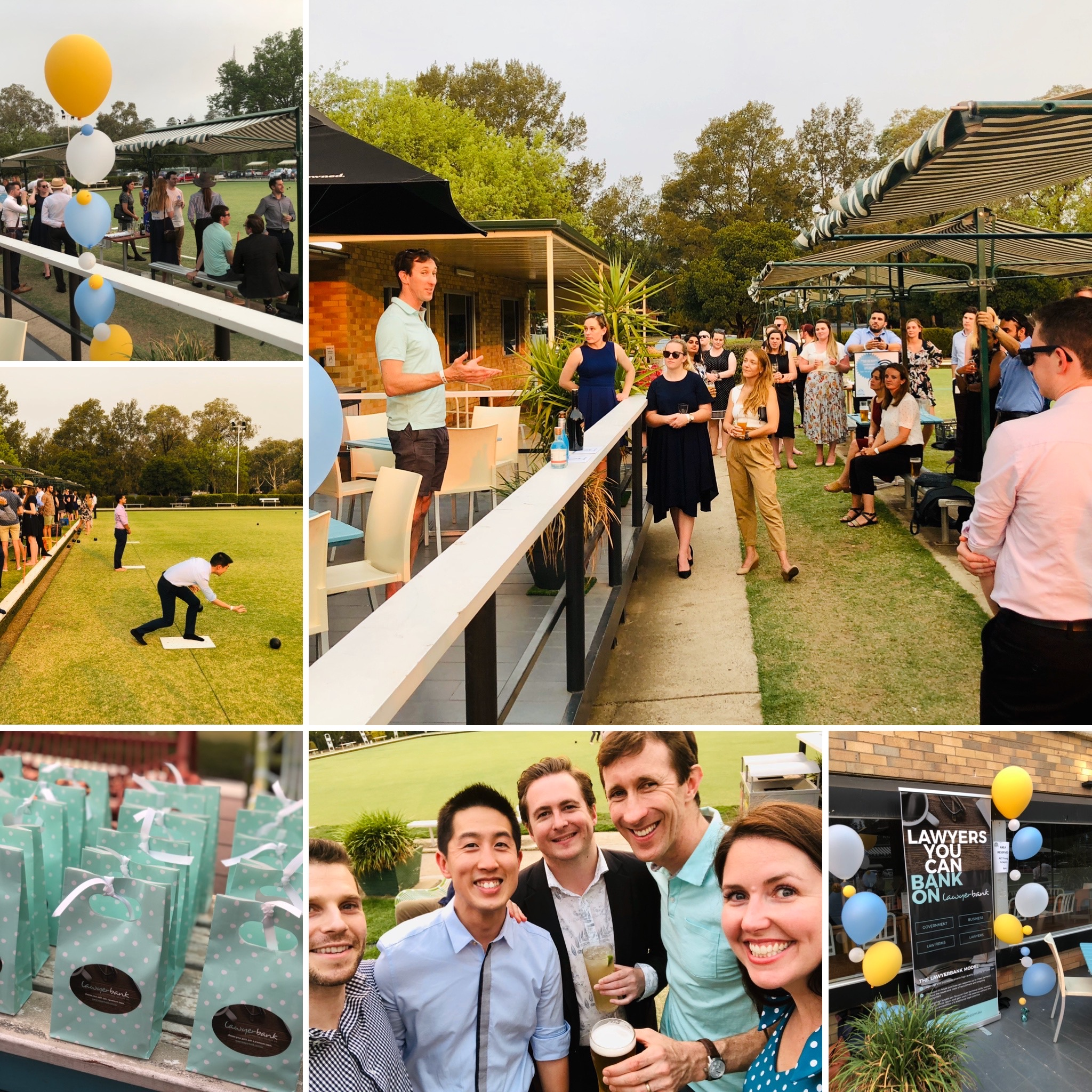 lawyerbank Sponsors the ACT Young Lawyers Lawn Bowls evening
